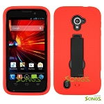 ZTE Source N9511 Majesty Z796C Heavy Duty Case with Kickstand Red/Black